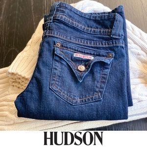 Hudson Jeans Dark Wash Pointed Pocket Bootcut 27